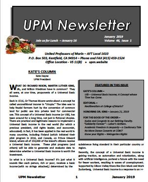 January 2019 UPM Newsletter